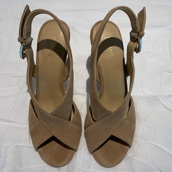 michael kors becky sandal suede